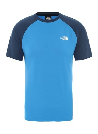 The North Face Tanken Raglan Erkek Tişört Mavi Mavi